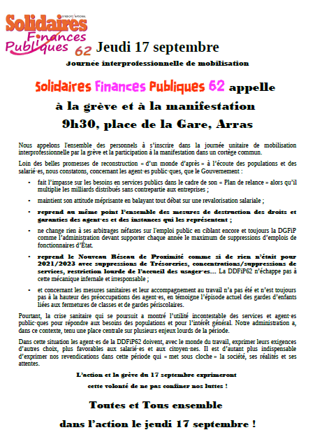 tract 17 septembre